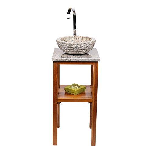 wohnfreuden marmor waschbecken 33 cm grau creme rund aussen geh mmert ideal als steinwaschbecken. Black Bedroom Furniture Sets. Home Design Ideas