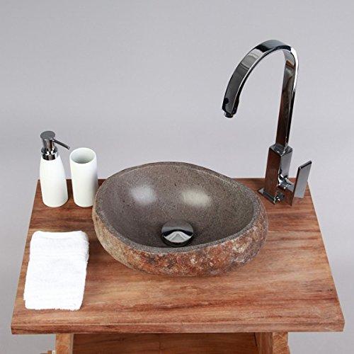 wohnfreuden naturstein waschbecken rund oval 30 cm stein. Black Bedroom Furniture Sets. Home Design Ideas