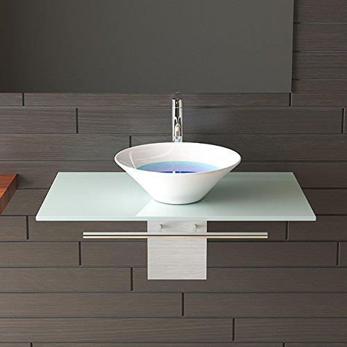 waschplatzl sung milchglasplatte keramikbecken badm bel aus glas waschtisch. Black Bedroom Furniture Sets. Home Design Ideas