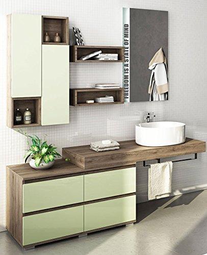 dafnedesign com badm bel gr e t 50 cm cm finish eiche terra gr n wasser lackiert. Black Bedroom Furniture Sets. Home Design Ideas
