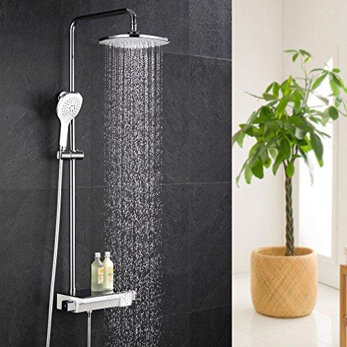 ubeegol duschsystem thermostat duscharmatur regendusche duschs ule duschstange duschpaneel mit. Black Bedroom Furniture Sets. Home Design Ideas