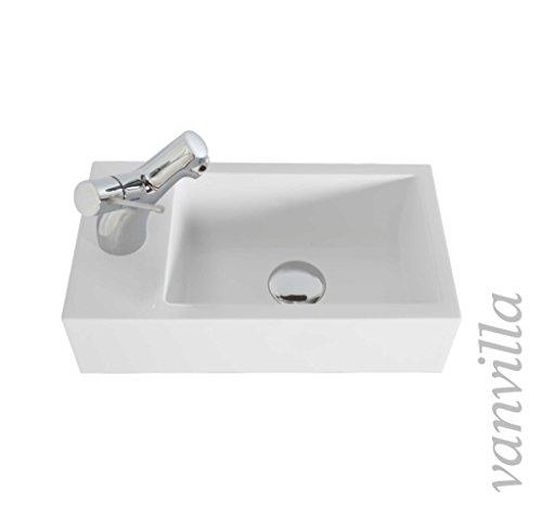 Vanvilla Design Waschbecken Mineralguss Gaste Wc Waschtisch